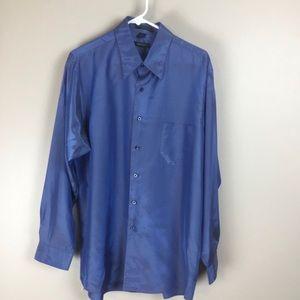 DKNY mens blue dress shirt 16 34-35
